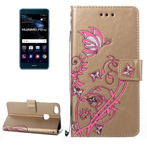 Buy Huawei P10 Lite Voltage Crazy Horse Texture Horizontal Flip Leather Case with Holder & Card Slots & Wallet & Lanyard, Gold for $2.68 in SUNSKY store