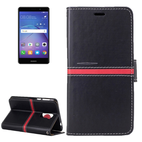Buy Huawei Mate 9 Lite Crazy Horse Texture PU Leather Horizontal Flip Leather Case with Holder & Card Slots & Wallet & Photo Frame & Lanyard, Black for $2.76 in SUNSKY store