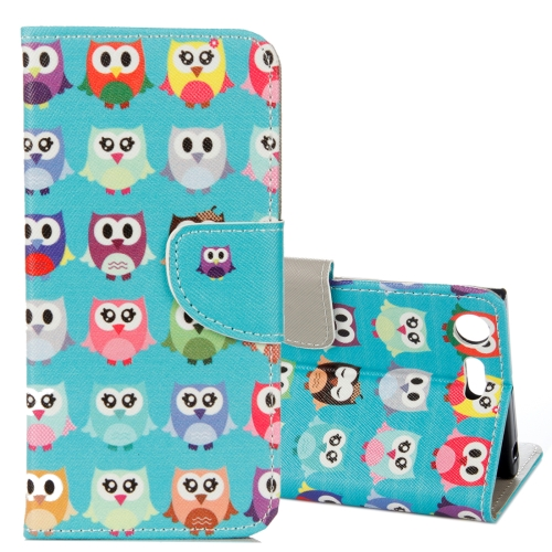 Buy For Sony Xperia XZ1 Compact Lovely Cartoon Owls Pattern Horizontal Flip Leather Case with Holder & Card Slots & Wallet for $2.30 in SUNSKY store
