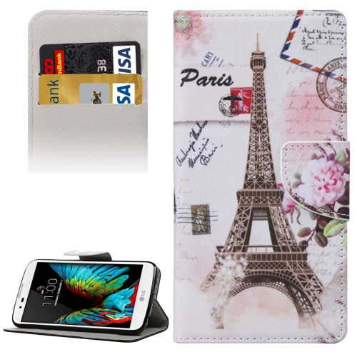 Buy Eiffel Tower Pattern Horizontal Flip Leather Case with Holder & Card Slots & Wallet for LG K10 for $2.19 in SUNSKY store