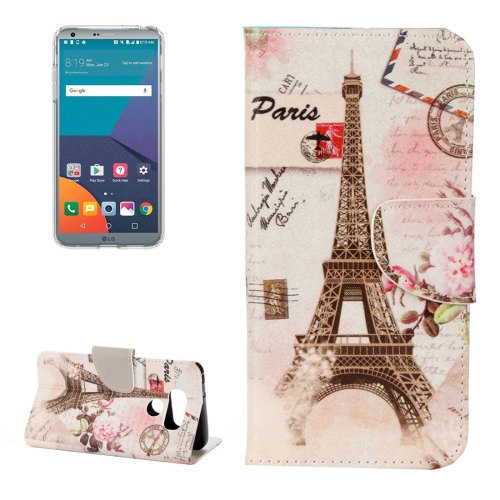 Buy For LG G6 Eiffel Tower Pattern Horizontal Flip Leather Case with Holder & Card Slots & Wallet for $2.17 in SUNSKY store