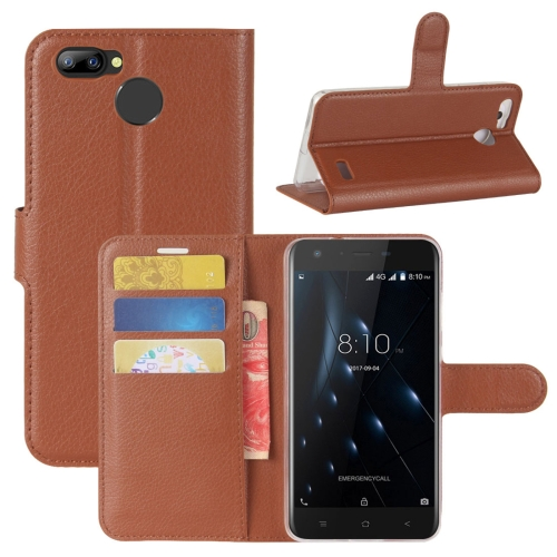Buy For Blackview A7 Pro Litchi Texture PU + TPU Horizontal Flip Leather Case With Holder & Card Slots & Wallet, Brown for $2.69 in SUNSKY store