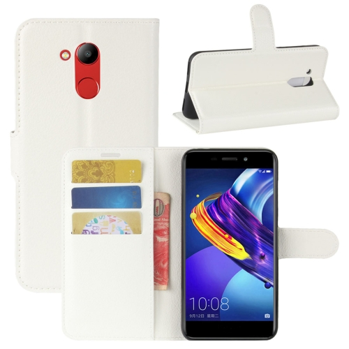 Buy Huawei Honor V9 Play Litchi Texture PU + TPU Horizontal Flip Leather Case With Holder & Card Slots & Wallet, White for $2.44 in SUNSKY store