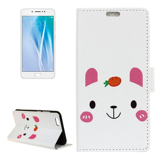 Buy Vivo V5 / Y67 Rabbit Pattern Horizontal Flip Leather Case with Holder & Card Slots & Wallet for $3.23 in SUNSKY store