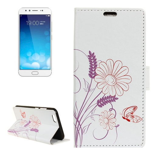 Buy Vivo X9 Plus Flower Pattern Horizontal Flip Leather Case with Holder & Card Slots & Wallet for $3.23 in SUNSKY store