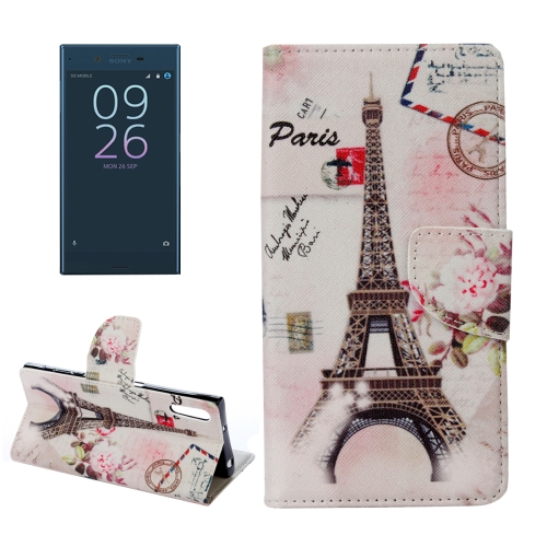 Buy For Sony Xperia XZ Eiffel Tower Pattern Horizontal Flip Leather Case with Holder & Card Slots & Wallet for $2.30 in SUNSKY store