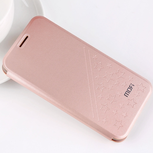 Buy MOFI Huawei Honor Play 6 PU Five-pointed Star Pattern Horizontal Flip Leather Case with Holder (Rose Gold) for $4.20 in SUNSKY store