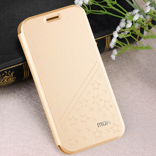 Buy MOFI Huawei Honor V9 play PU Five-pointed Star Pattern Horizontal Flip Leather Case with Holder, Gold for $4.20 in SUNSKY store