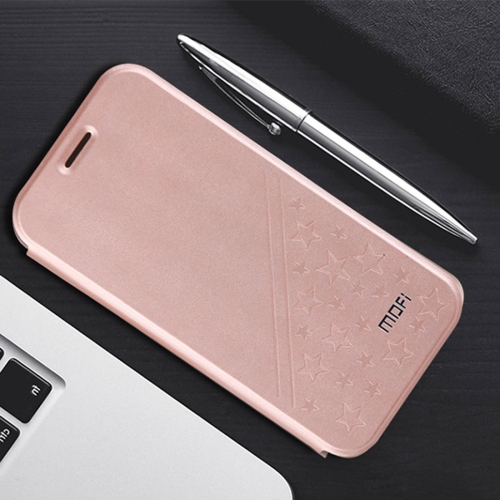 Buy MOFI Huawei Honor V9 play PU Five-pointed Star Pattern Horizontal Flip Leather Case with Holder (Rose Gold) for $4.20 in SUNSKY store