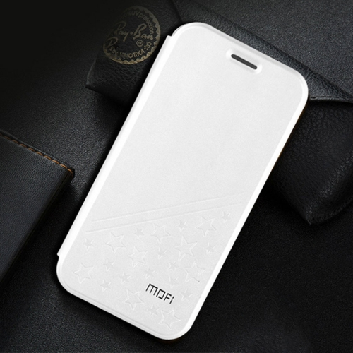 Buy MOFI Huawei Honor V9 play PU Five-pointed Star Pattern Horizontal Flip Leather Case with Holder, White for $4.20 in SUNSKY store