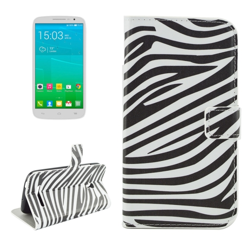 Buy For Alcatel OneTouch POP S9 Zebra Stripes Pattern Horizontal Flip Leather Case with Holder & Card Slots & Wallet for $2.18 in SUNSKY store