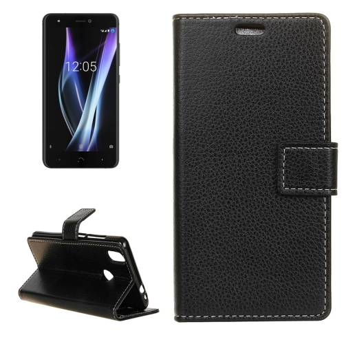 Buy For BQ Aquaris X Pro Litchi Texture Horizontal Flip Leather Case with Holder & Card Slots & Wallet & Photo Frame, Black for $2.98 in SUNSKY store