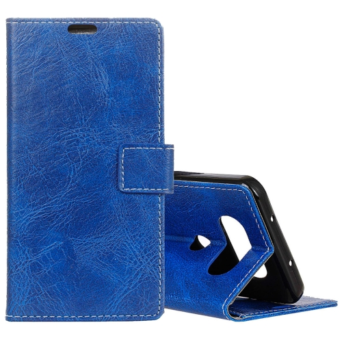 Buy For LG Q8 Retro Crazy Horse Texture Horizontal Flip Leather Case with Holder & Card Slots & Wallet & Photo Frame, Blue for $3.18 in SUNSKY store