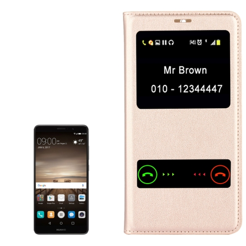 Buy Huawei Mate 9 Horizontal Flip Leather Case with Caller ID Display & Sleep / Wake-up Function, Gold for $2.97 in SUNSKY store