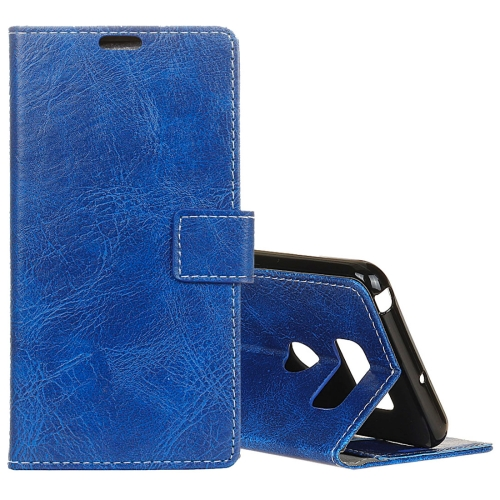 Buy For LG V30 Retro Crazy Horse Texture Horizontal Flip Leather Case with Holder & Card Slots & Wallet & Photo Frame, Blue for $3.18 in SUNSKY store