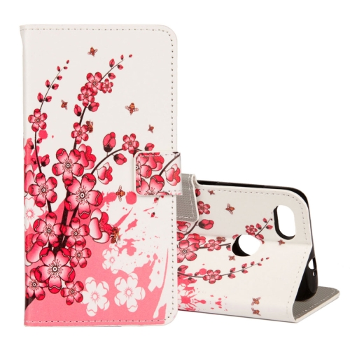 Buy Huawei Y6 Pro, 2017 Plum Blossom Pattern Horizontal Flip Leather Case with Holder & Card Slots & Wallet for $2.43 in SUNSKY store