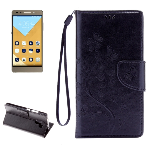 Buy Huawei Honor 7 Butterflies Embossing Horizontal Flip Leather Case with Holder & Card Slots & Wallet & Lanyard, Black for $2.06 in SUNSKY store