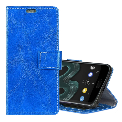 Buy Wiko WIM Retro Crazy Horse Texture Horizontal Flip Leather Case with Holder & Card Slots & Wallet & Photo Frame, Blue for $3.19 in SUNSKY store