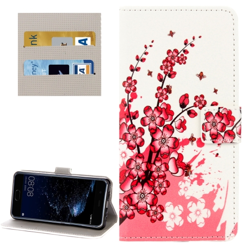 Buy Huawei P10 Plum Blossom Pattern Horizontal Flip Leather Case with Holder & Card Slots & Wallet for $2.28 in SUNSKY store