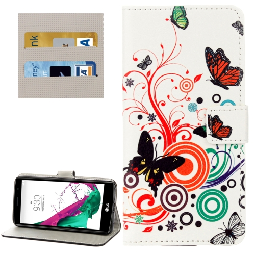 Buy For LG G6 White Butterflies Love Flowers Pattern Horizontal Flip Leather Case with Holder & Card Slots & Wallet for $2.28 in SUNSKY store