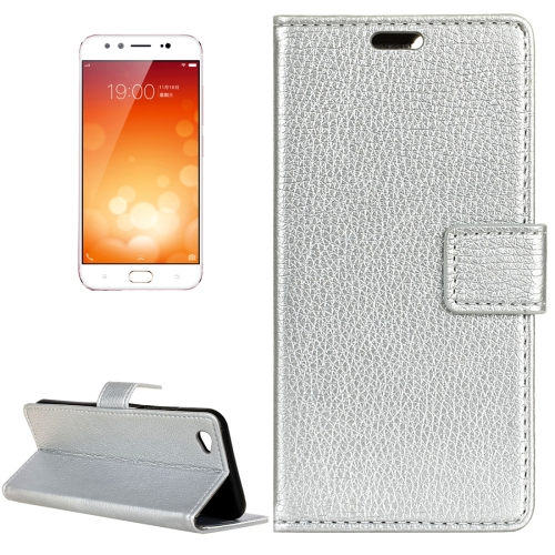Buy Vivo X9 Litchi Texture Horizontal Flip Leather Case with Holder & Card Slots & Wallet & Photo Frame, Silver for $2.97 in SUNSKY store