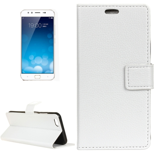 Buy Vivo X9 Plus Litchi Texture Horizontal Flip Leather Case with Holder & Card Slots & Wallet & Photo Frame, White for $2.97 in SUNSKY store