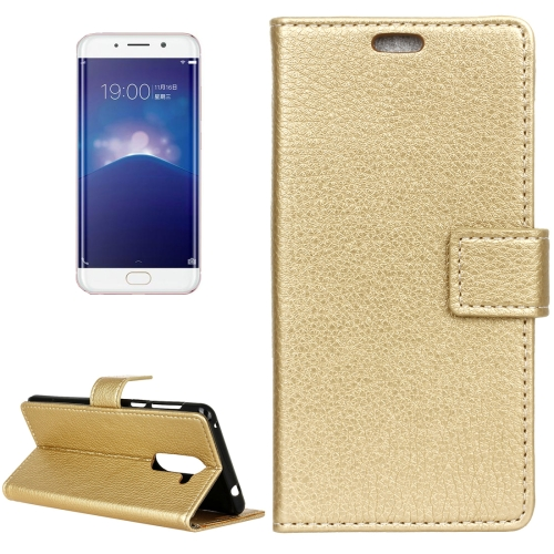 Buy Vivo X Play 6 Litchi Texture Horizontal Flip Leather Case with Holder & Card Slots & Wallet & Photo Frame, Gold for $2.97 in SUNSKY store