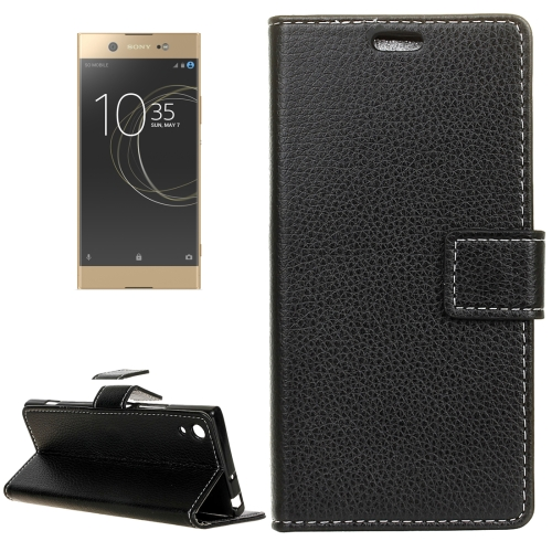 Buy For Sony Xperia XA1 Ultra Litchi Texture Horizontal Flip Leather Case with Holder & Card Slots & Wallet & Photo Frame, Black for $3.19 in SUNSKY store