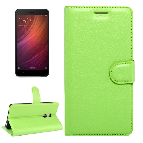Buy Xiaomi Redmi Note 4X Litchi Texture Horizontal Flip Leather Case with Magnetic Buckle & Holder & Card Slots & Wallet, Green for $2.32 in SUNSKY store