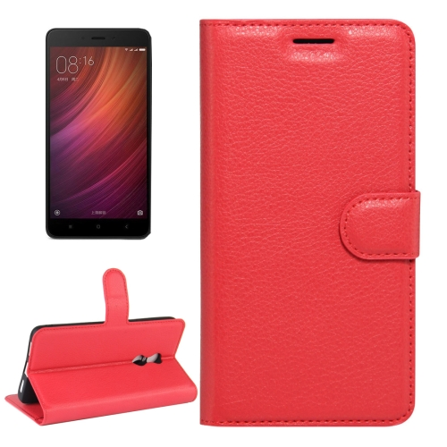 Buy Xiaomi Redmi Note 4X Litchi Texture Horizontal Flip Leather Case with Magnetic Buckle & Holder & Card Slots & Wallet, Red for $2.32 in SUNSKY store