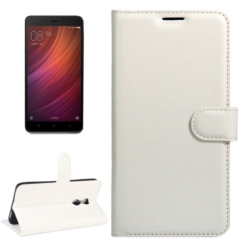 Buy Xiaomi Redmi Note 4X Litchi Texture Horizontal Flip Leather Case with Magnetic Buckle & Holder & Card Slots & Wallet, White for $2.32 in SUNSKY store