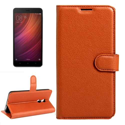 Buy Xiaomi Redmi Note 4X Litchi Texture Horizontal Flip Leather Case with Magnetic Buckle & Holder & Card Slots & Wallet, Brown for $2.32 in SUNSKY store