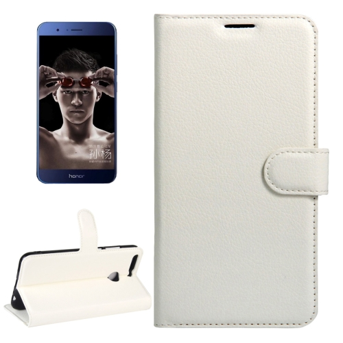 Buy Huawei Honor V9 / V8 Pro Litchi Texture Horizontal Flip Leather Case with Magnetic Buckle & Holder & Card Slots & Wallet, White for $2.31 in SUNSKY store