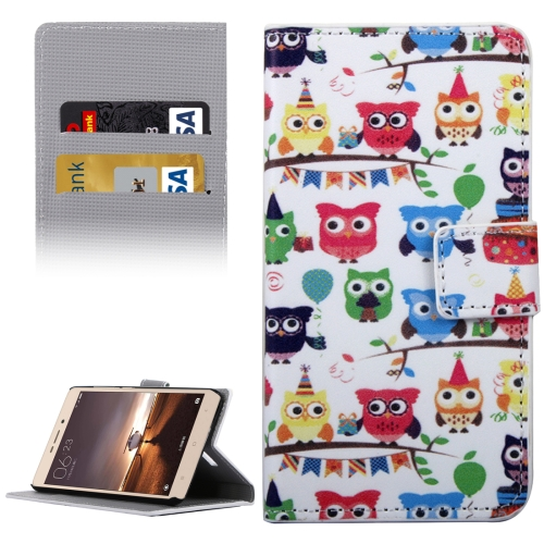 Buy Xiaomi Redmi Note 3 Lovely Cartoon Owls Patterns Horizontal Flip Leather Case with Holder & Card Slots & Wallet for $2.30 in SUNSKY store