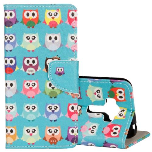 Buy For Asus ZenFone 4 Selfie Pro ZD552KL Lovely Cartoon Owls Pattern Horizontal Flip Leather Case with Holder & Card Slots & Wallet for $2.41 in SUNSKY store