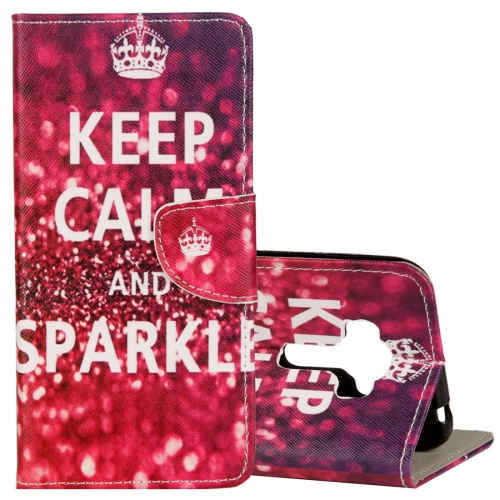 Buy For Asus ZenFone 4 Selfie Pro ZD552KL Gorgeous KEEP CALM and SPARKLE Words Pattern Horizontal Flip Leather Case with Holder & Card Slots & Wallet for $2.42 in SUNSKY store