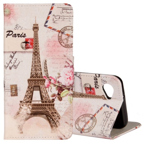 Buy For LG Q6 Eiffel Tower Pattern Horizontal Flip Leather Case with Holder & Card Slots & Wallet for $2.30 in SUNSKY store