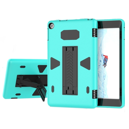 Buy For Amazon Kindle Fire HD 8, 2016 PC+Silicone Shockproof Protective Back Cover Case With Holder (Black + Green) for $6.84 in SUNSKY store