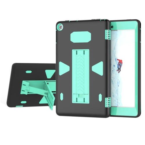 Buy For Amazon Kindle Fire HD 8, 2016 PC+Silicone Shockproof Protective Back Cover Case With Holder (Green + Black) for $6.84 in SUNSKY store
