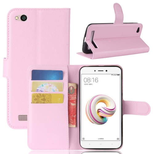 Buy Xiaomi Redmi 5A Litchi Texture Horizontal Flip Leather Case with Holder & Card Slots & Wallet, Pink for $2.42 in SUNSKY store