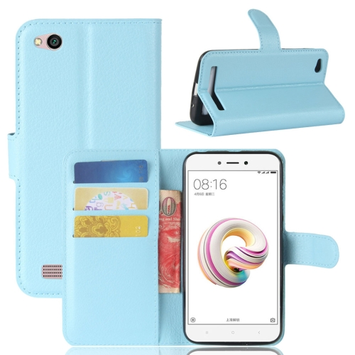 Buy Xiaomi Redmi 5A Litchi Texture Horizontal Flip Leather Case with Holder & Card Slots & Wallet, Blue for $2.42 in SUNSKY store