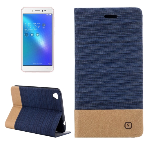 Buy Asus ZenFone Live / ZB501KL Canvas Texture PU + TPU Horizontal Flip Leather Case with Holder & Card Slots (Dark Blue) for $2.68 in SUNSKY store