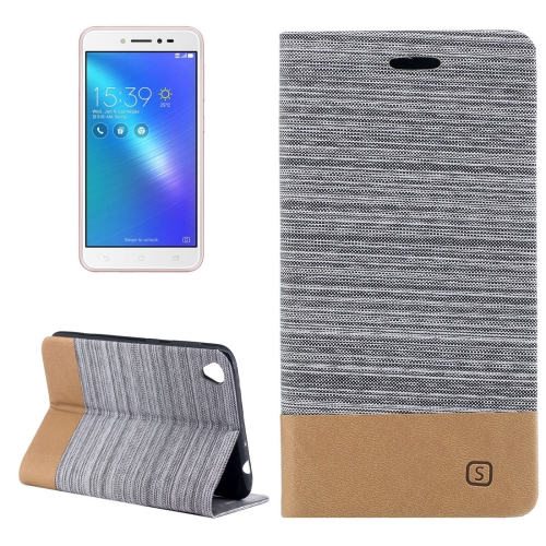 Buy Asus ZenFone Live / ZB501KL Canvas Texture PU + TPU Horizontal Flip Leather Case with Holder & Card Slots, Grey for $2.68 in SUNSKY store