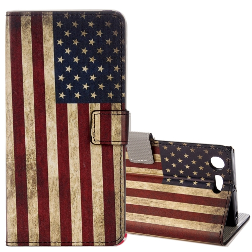 Buy For Sony Xperia XZ1 Compact US Flag Pattern Horizontal Flip Leather Case with Holder & Card Slots & Wallet for $2.30 in SUNSKY store