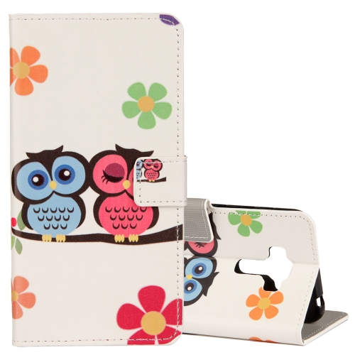 For Asus ZenFone 4 Selfie Pro ZD552KL Lovers Owl Pattern Horizontal Flip Leather Case with Holder & Card Slots & Wallet