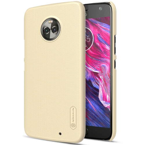 Buy NILLKIN for Motorola Moto X4 Concave-convex Texture PC Protective Back Cover Case, Gold for $3.85 in SUNSKY store