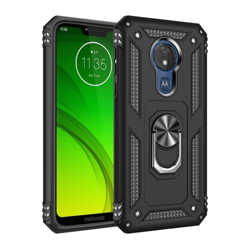 Armor Shockproof TPU + PC Protective Case for Motorola Moto G7 Power, with 360 Degree Rotation Holder (Black)
