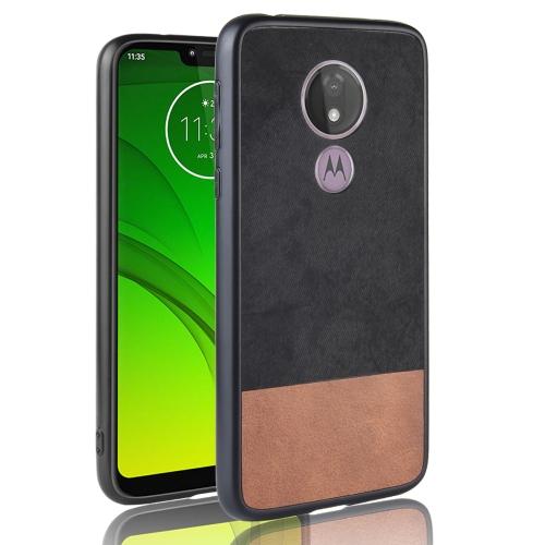 Shockproof Color Matching Denim PC + PU + TPU Case for Motorola Moto G7 Power (EU Version) (Black)