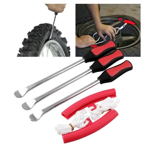 MB-XBL010 3 PCS Tire Spoon Lever Iron Tool Kits Motorcycle Bike Professional Tire Change Kit