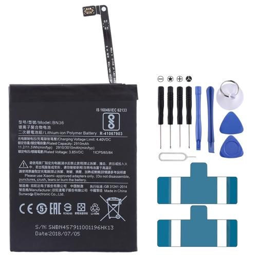 2910mAh Li-Polymer Battery BN36 for Xiaomi Mi 6X / A2